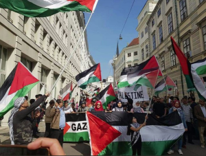 Vienna Austria stands with Palestine (Shehab News) May 19 2018