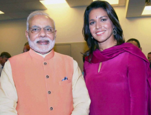 Modi & Tulsi Gabbard Oct 2014 (PTI Photo)
