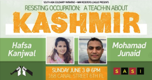 NYC Kashmir teach-in June 3 2018