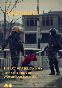 Cover to Terrorized on children in Kashmir July 17 2018
