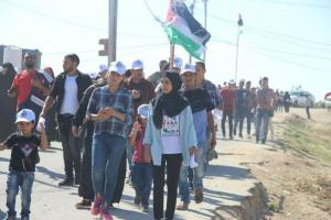 Great Return March July 20 2018 (tweeted by AbdelKarim Alkahlout in Gaza) July 20 2018