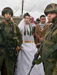 Israeli troops arresting Palestinian wedding couple (Dr. Basem Naim) Aug 29 2018