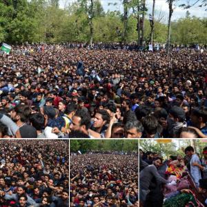 Kashmir funeral:protest for six Sept 15 2018