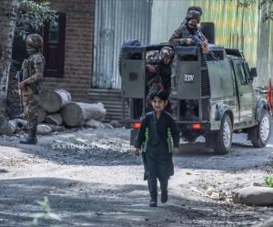 Kashmiri boy walking (Kashmir Bleeds) Sept 5 2018