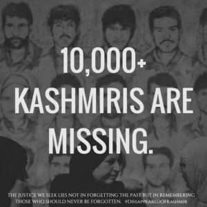 Kashmiri disappeared poster Aug 31 2018