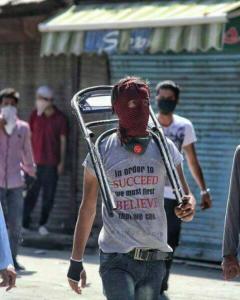 Kashmiri protester (tweeted by Suddhan Sadaf Shareef) July 20 2018