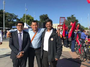 Maung Zarni and Ro Nay San Lwin at Tamil genocide rally Sept 17 2018