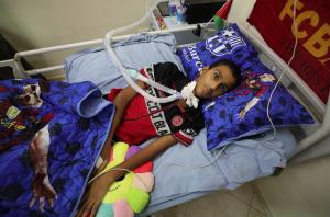 Nureddin Ebu Bekir (16) quadriplegia (Shehab News) July 19 2018