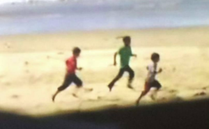Palestinian boys on Gaza beach being bombed July 2014 :July 20 2018