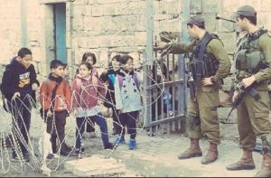 Palestinian kids on way to school (Basem Naim on Twitter) Sept 3 2018