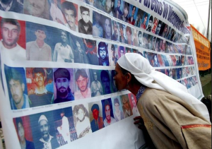 Photo collage of disappeared of Kashmir
