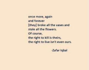 Poem by Zafar Iqbal Sept 18 2018