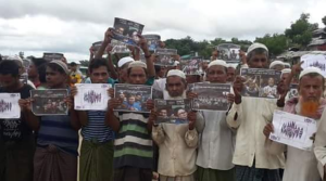 Rohingya refugees in Bangladesh protest in solidarity with two Burmese journalists (Twitter) Sept 5 2018