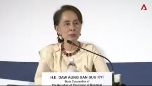 Suu Kyi at Singapore Lecture Aug 27 2018