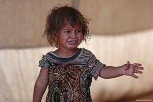 Syrian child in Idlib camp (Nazeer Al Khatib:AFP) Sept 13 2018